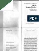 Greimas A.J.-De La Imperfección
