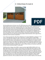 Garage Doors Mend - Critical Items To Look At