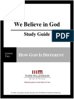 We Believe In God - Lesson 2 - Study Guide