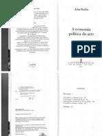 RUSKIN, John. A economia política da arte. Capítulos selecionados.