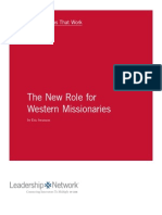 The New Role for Western Missionaries