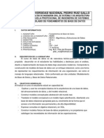 Silabo de Fundamentos de Base de Datos 2015-II