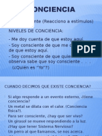 3 Conciencia (s)