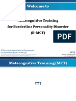 Metacognitive training BPD