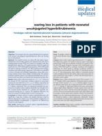 41.Evaluationhearing losspatientsneonatalunconjugatedhyperbilirubinemia