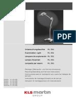 Lámpara de Examinación- ML 301- Manual de Uso- Versión 2.1- Ene-08