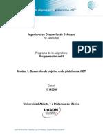 Unidad 1. Desarrollo de Objetos en La Plataforma .NET