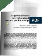 La Globalización e Interculturalidad Narrada Por Los Antropólogos