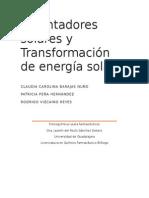 Calentadores Solares y Transformación de Energía Solar