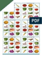 Vegetable Bingo Flashcards