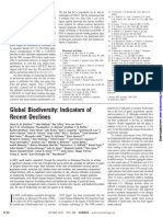 Artigo - Global Biodiversity Indicators of Recent Declines