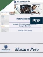 Matematica Unidade 7 - Unidades e Medidas e Notação Científica