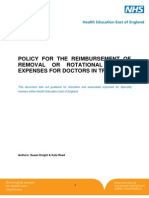 Policy for the Reimbursement of Removal or Rotational Travel Expenses for Doctors in Training 1