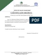 Modelo Certificado Medico