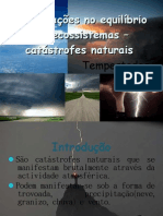 Perturbações no equilíbrio dos ecossistemas – catástrofes naturais