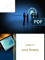 Matematica Unidade 8 -Juros Simples
