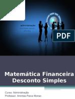 Matematica Unidade 11 - Desconto Simples