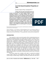 Recent Advances in the Sound Insulation Properties of Bio-based Materials