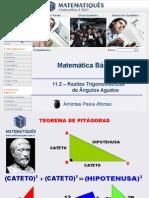 Matematica Unidade 16 - Razões Trigonométricas de Ângulos Agudos