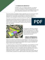 La Ordenación Urbanística