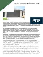 Garage Doors Maintenance Companies  Householders' Guide