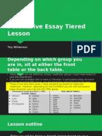 persuasive essay tiered lesson 2