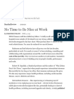 No Time to Be Nice at Work - The New York Times