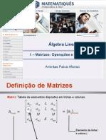 Álgebra Linear Unidade 1- Matrizes- Operações e Propriedades