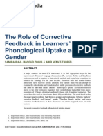 The Role of Uptake in Phonology Across Gender