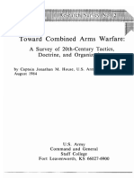 Toward Combined Arms Warfare by Jonathan M. House (USA)