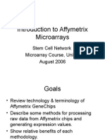 Introduction to Affymetrix Microarrays