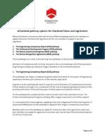 Echartered Pathway Guidelines