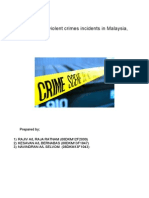 Trend Analysis of Violent Crimes Incidents