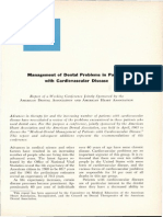 ada aha management of dental problems in px with cardiovascular disease 1964