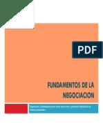 Fundamentos de La Negociacion