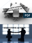 Classification of Admin Action
