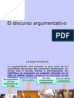 El Discurso Argumentativo y Ejercicios 2015