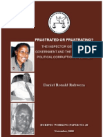 Daniel R Ruhweza the IGG & Political Corruption in Uganda Working_Paper_20_3