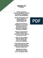 Psalmul 17 În Versuri