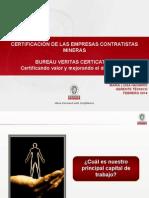 2) Certificación de Las Empresas Contratistas Mineras (Maria Navarro - Bureau Veritas)