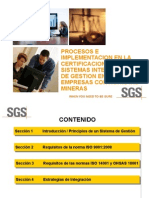 1) Procesos e Implementacion Certificacion en Sistemas Integrados Gestion Empresas (Roger Julca - Sgs)