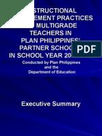 Instructional Management Practices of Multigrade Teachers In