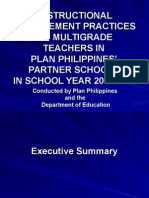 Instructional Management Practices of Multigrade Teachers In