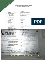 Testing & Commissioning Document for Elevators