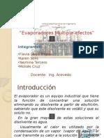 Evaporadores Multiple Efecto
