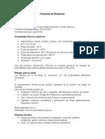 Protocolo de Reactivos y Productos