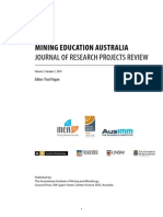 MEA Journal of Research Projects Review 2014