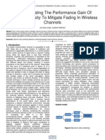 On Investigating the Performance Gain of Receiver Diversity to Mitigate Fading in Wireless Channels