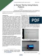 The Gyroscope Sensor Test by Using Arduino Platform