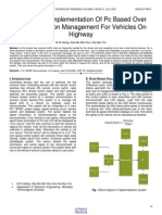 Design and Implementation of Pc Based Over Speed Violation Management for Vehicles on Highway